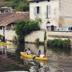 Canoeing on the River Dronne